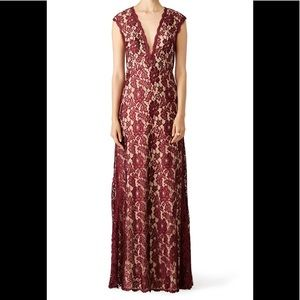 Formal Dress Size 10 Maroon LM Collection Romantic